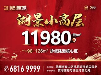中国中铁陆港城|湖景小高层 11980元/㎡起!